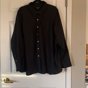 Lands End black button down shirt